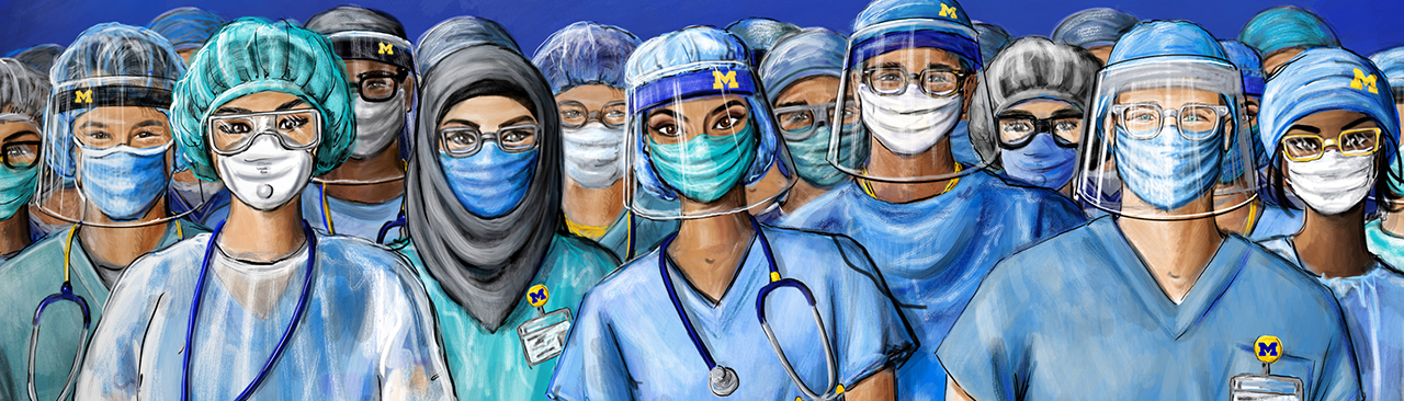 nurses and doctors with personal protective equipment