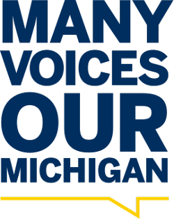 Many voices our Michigan graphic
