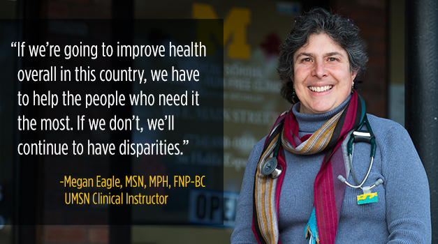 "Eagle quote: ""If we're going to improve health overall in this country, we have to help the people who need it the most. If we don't, we'll continue to have disparities."""