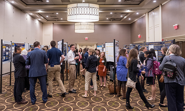 Nearly 40 posters were on display highlighting a wide variety of nursing research topics