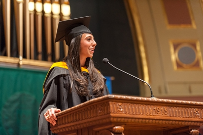 El Aile was the Master's Representative Speaker at UMSN's 2013 graduation