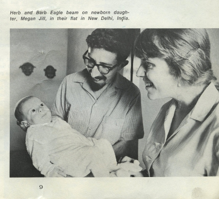 Eagle's birth was featured in a Peace Corps magazine focused on married and family life for volunteers