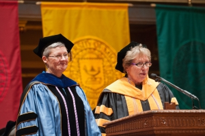 Dr. Elizabeth Brough and Dean Kathleen Potempa