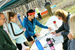 Runners register for Stay in the Shade trail run