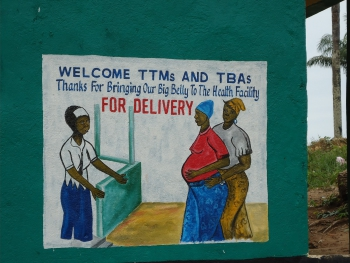Sign on the side of a MWH in Liberia