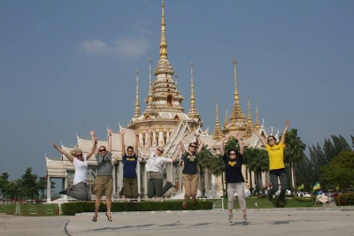 The UMSN team having a little fun while sightseeing