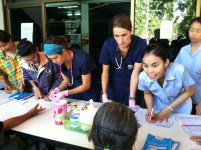 UMSN and SUT students conduct screenings for hypertension and diabetes