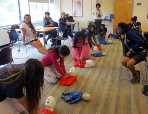 EnAct students learn CPR