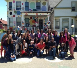 Students tour Detroit's Heidelberg Project, an open-air art setting