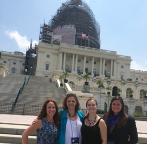 Midwifery students in Washington, D.C. for ACNM's Lobby Day