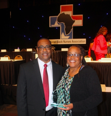 LaDonna Christian with NBNA president Eric J. Williams