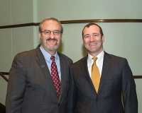 U-M President Mark Schlissel and Dr. Christopher Friese