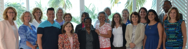 "UMSN's Dr. Jody Lori (5th from left) attended the 2014 meeting of the Pan American Nursing and Midwifery Collaborating Centers (PANMCC) in Cartagena, Colombia, in association with the XIV Pan American Nursing Research Colloquium. UMSN is a member of PANMCC as part of our PAHO/WHO Collaborating Center efforts.  PANMCC is comprised of 19 WHO Collaborating Centers for Nursing and Midwifery in the Americas from Canada to Chile.  Its mission is to support the role of nurses and midwives in the advancement of ""Health for All"" through the achievement of the ""Millennium Development Goals"" and the promotion of regional and global cooperation."