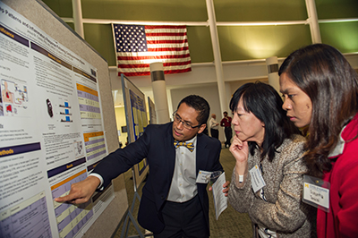 Casida explains his research at UMSN's annual Research Day