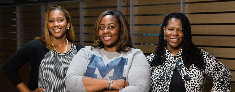 (l-r) Jade Burns, Lenette Jones, Sheria Robinson-Lane
