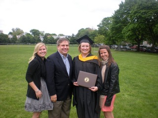Ressler and friends at Tufts commencement in 2011