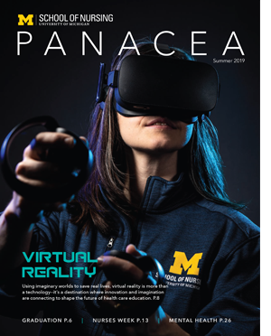 Magazine cover with girl in virtual reality glasses
