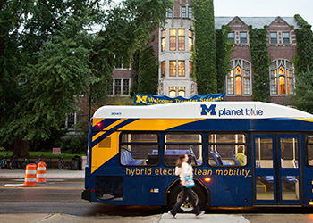 Bus at the University of Michigan