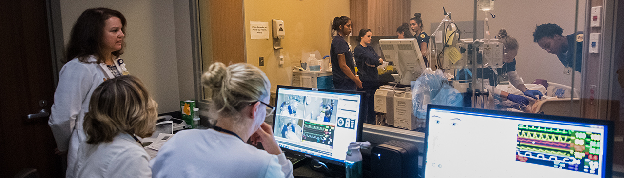 Students in clinical simulation