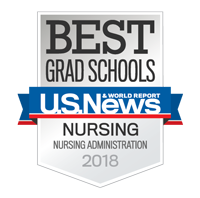 U.S. News and World Report badge for nursing administration