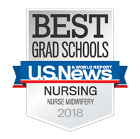 U.S. News and World Report badge for nurse midwifery