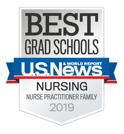 U.S. News & World Reports 2019 badge for nurse practitioner family