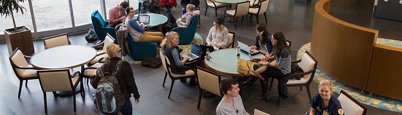 UMSN students in atrium