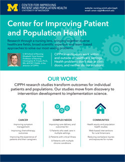 Center for Improving Patient and Population Health flyer
