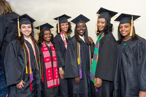 Fladger (2nd from right) graduating with her BSN