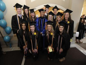 Dr. Casida and one of his first classes of graduating Honors students