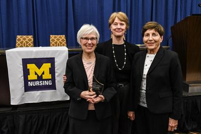 Marilyn Oermann, Dean Patrica Hurn and Suzanne Brouse