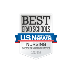 U.S. News and World Report badge for Doctor of Nursing Practice