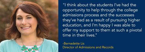 Bernadette Lis with Quote