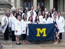 UMSN students at state capitol in Lansing